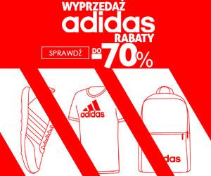 Wyprzedaż Adidas do -70%
