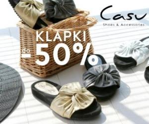 Klapki o 50% taniej w Casu!
