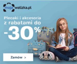 Plecaki i akcesoria o 30% taniej!