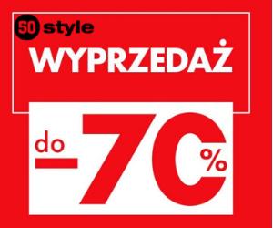 Wyprzedaż do -70% w 50 style