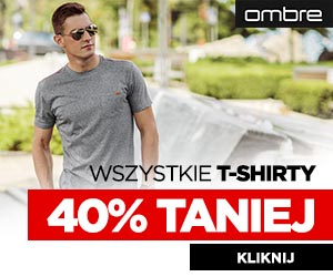 T- shirty o 40% taniej!