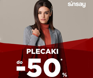 Plecaki do -50% w Sinsay!