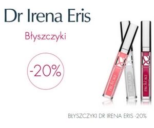 - 20% na błyszczyki Dr Irena Eris