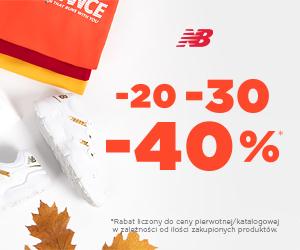 Rabaty do -40% w New Balance