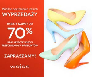 Rabaty do - 70% w Wojas!