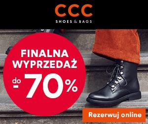 CCC: Wyprzedaż do -70%