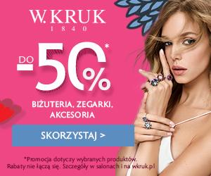 Biżuteria W.Kruk -50% taniej!