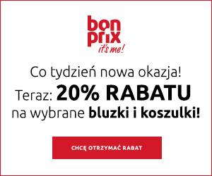 20% rabatu na bluzki!