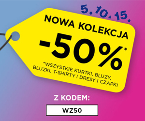 -50% na nową kolekcję!
