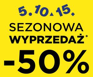5.10.15: Rabaty na -50% !