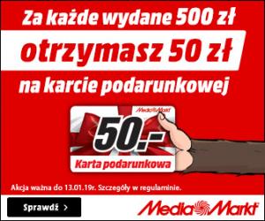 Media Markt: Zyskaj 50 zł