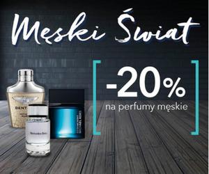Męski świat: - 20% na męskie perfumy