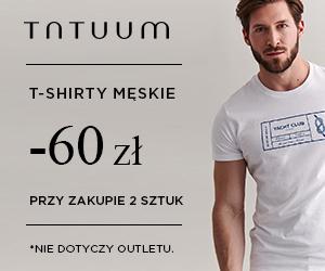 60 zł rabatu na T-shirty!