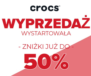 Crocsy taniej do -50%!