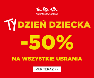 Wszystkie ubranka -50%!