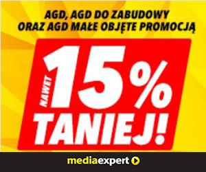 AGD 15% taniej!