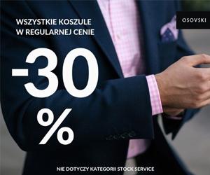 Rabat -30% na koszule!
