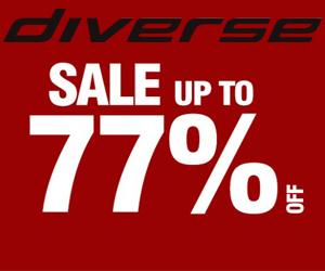 Diverse: Wyprzedaż do -77%
