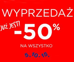 -50% na wszystko w 5.10.15.!