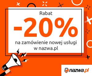Nazwa.pl: -20% na nowe usługi