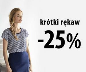 -25% na bluzki z krótkim rękawem