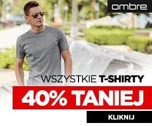 Wszystkie t-shirty o 40% taniej!