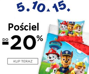 -20% na pościel dziecięcą w 5.10.15.