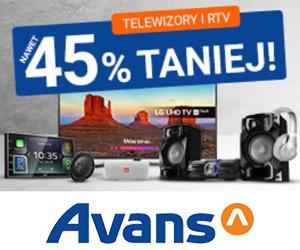 Telewizory i RTV taniej do -45%!