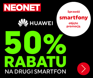 -50% na smartfony Huawei!