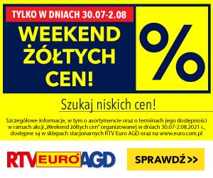 Weekend żółtych cen w RTV Euro AGD!