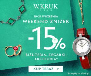 Biżuteria od W. Kruk o 15% taniej!