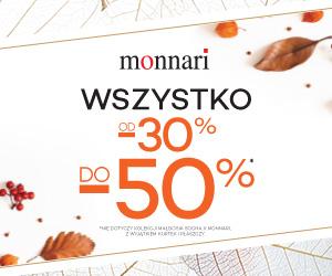 Rabaty do -50% w Monnari!