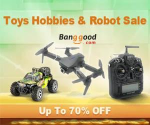 Zabawki i roboty taniej do -70%!