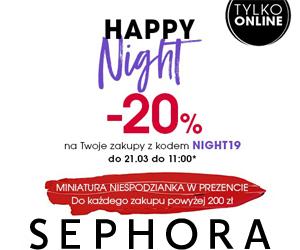 Sephora: Noc zniżek -20%