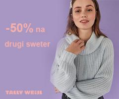 Swetry 50% taniej!