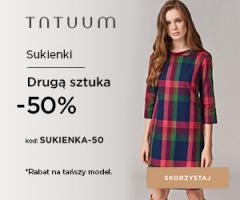 Sukienka o 50% taniej!