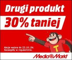 30% rabatu na drugi produkt!