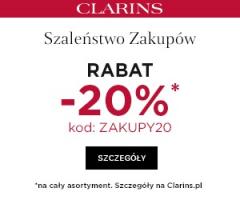 Clarins -20% na kosmetyki