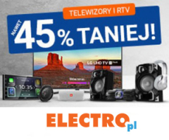 Telewizory taniej o 45%!