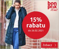 Bonprix 15% rabatu