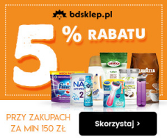 Zniżka -5% na zakupy w BDsklep!