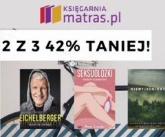 Matras: 2 książki z 3 taniej 42%!