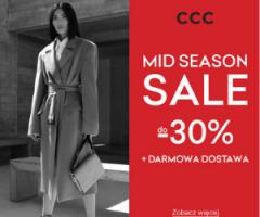 CCC - sezonowa wyprzedaż 30% + darmowa dostawa!
