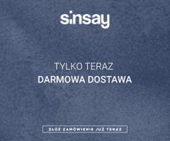 Darmowa dostawa w Sinsay!