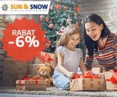 Sun&Snow: -6% na Święta!