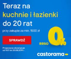 20 rat 0% w Castoramie!