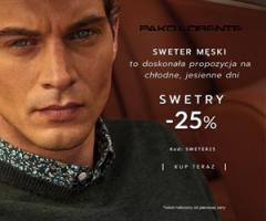 Rabat 25% na swetry