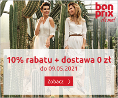Bonprix 10% rabatu i darmowa dostawa