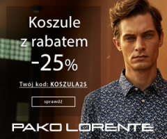 Pako Lorente: -25% na koszule