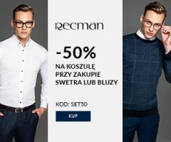 -50% na koszule w sklepie Recman